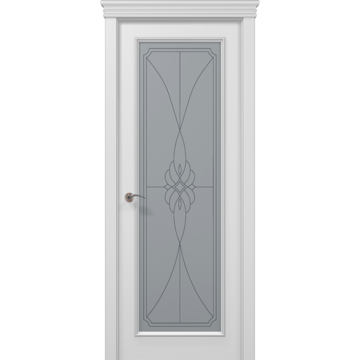 Дверь Папа Карло Art-Deco ART-01 (RAL 9003) BEVELS ✅ Коллекция дверей ART DECO